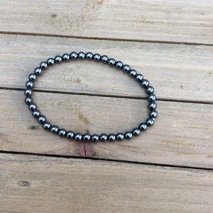 Hemetite stretchy bracelet